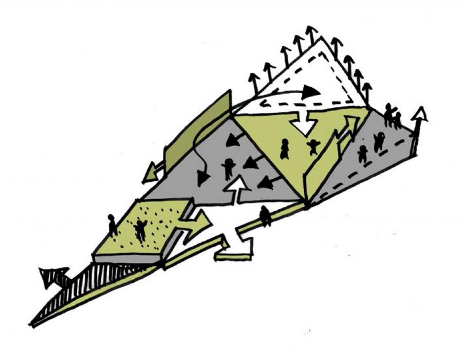 Priestorová a funkčná adaptibilita - autorská skica