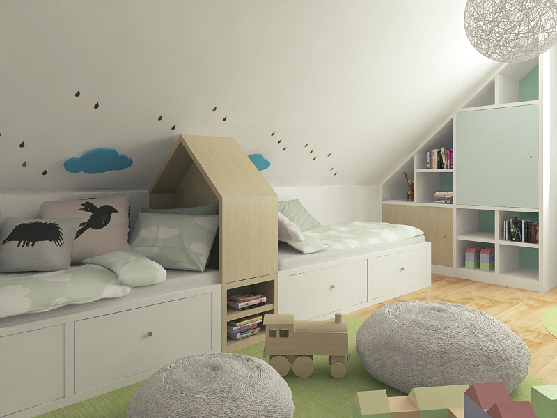fc21abba0557 Dve deti v jednej izbe  Bežnú realitu možno vyrieši malý detail urobený na  mieru.