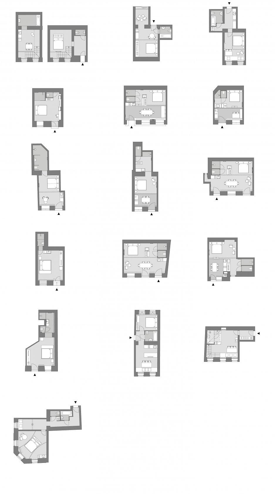 Pôdorysy apartmánov