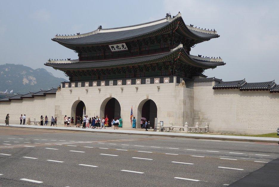 Hlavná brána do bývalého hlavného kráľovského paláca Gyeongbokgung
