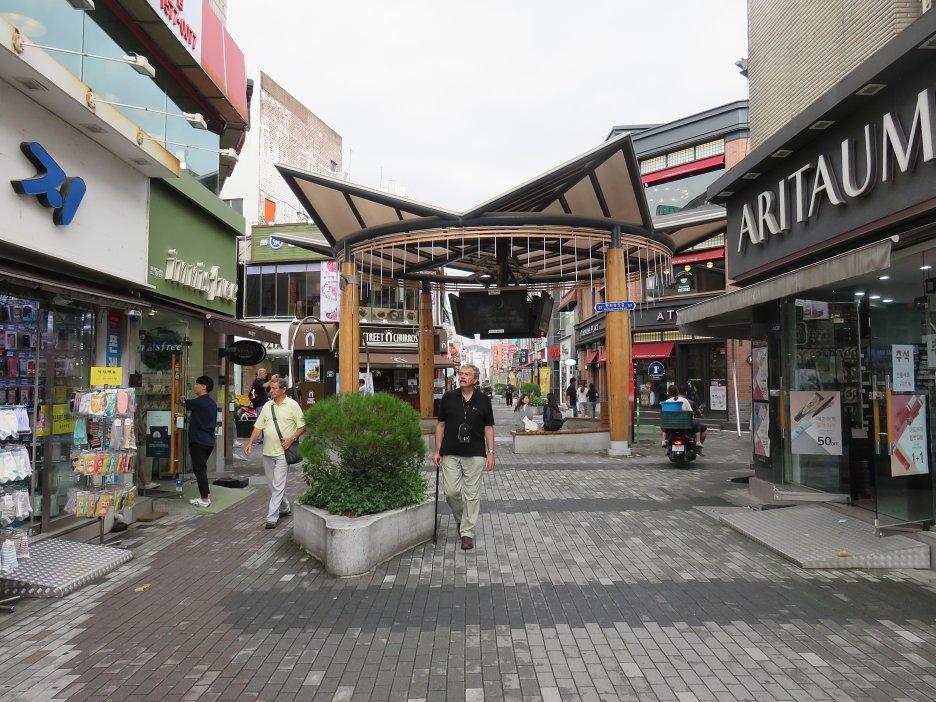 Na pešej zóne v meste Andong