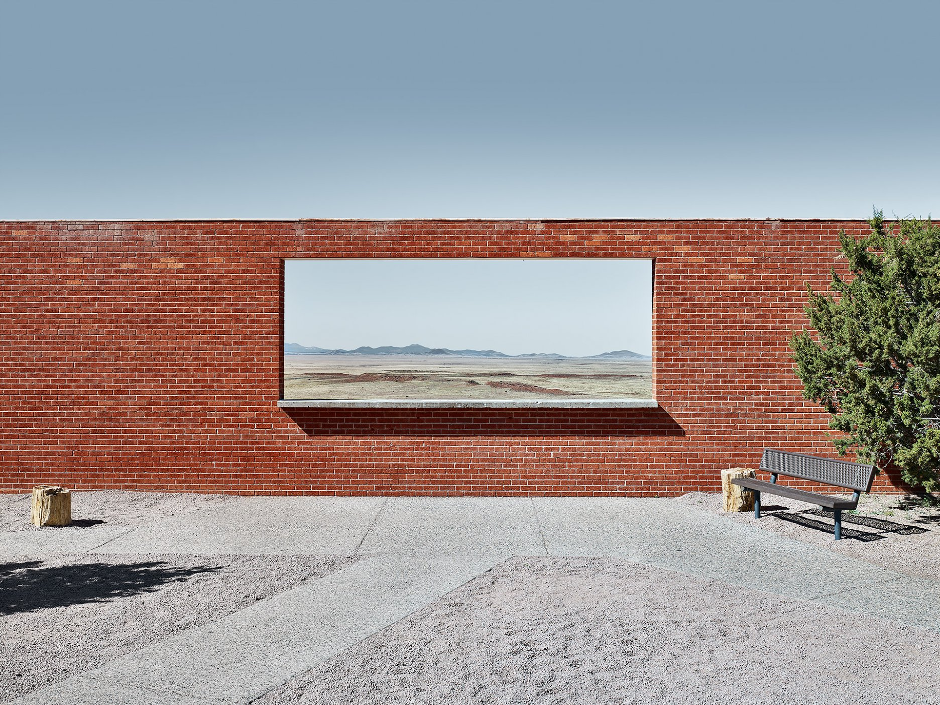 The Wall Frame, Arizona, Barrington Crater entrance compound, Arizona, 2015