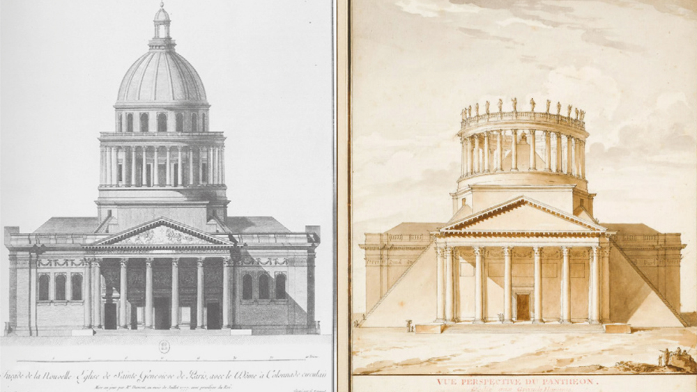 Architectural Embodiment of the Ancient Regime and its Revolutionary Transformation (G. Soufflot, 1758; Ch. De Wailly, 1794)
